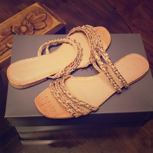 Chain & Cork Open Toed Sandals!